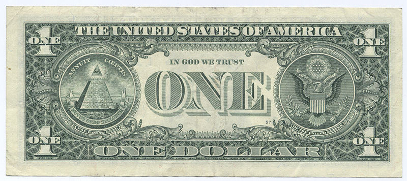 Bild:United States one dollar bill, reverse.jpg